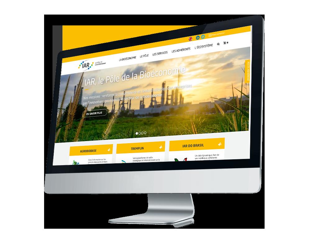 Site web e-commerce réalisé pour le Pôle IAR
